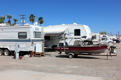 RV Park Hookup Sites